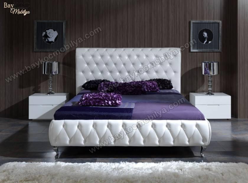 Kapitone İşlemeli Modern Yatak Odası Takımı
