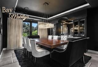 8 Kişilik Yemek Masası Özel Tasarım Sandalyeler Yemek Odası Takımı