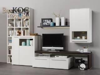 Beyaz Lake Tv Ünitesi Modern Tasarım Özel Üretim