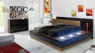Led Işıklı Modern Tasarım Yatak Odası Takımı
