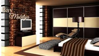 3 Kapak Sürgülü Modern Yatak Odası Takımı
